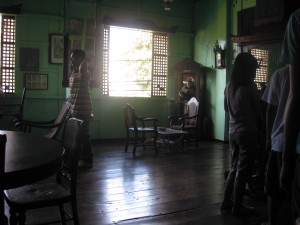 living room of the Crisologos' in Vigan, Ilocos Sur